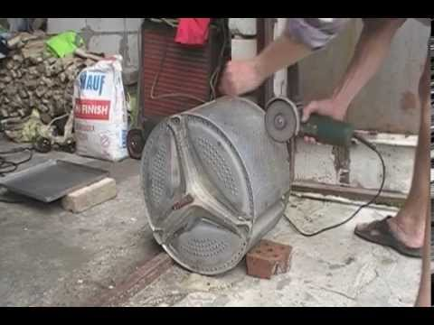 Мангал из стиральной машины своими руками
