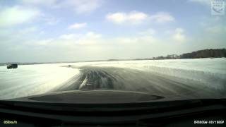 Opel Insignia CT fly off from ice speedway - Yokohama MaxPowerIce 2015