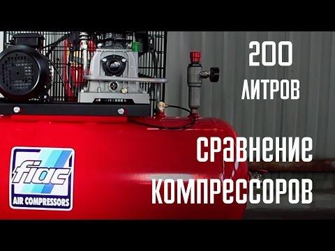 Производительность компрессора Ремеза 200LB 40  Fubag B5200/200CT4 Fiac AB 200/515