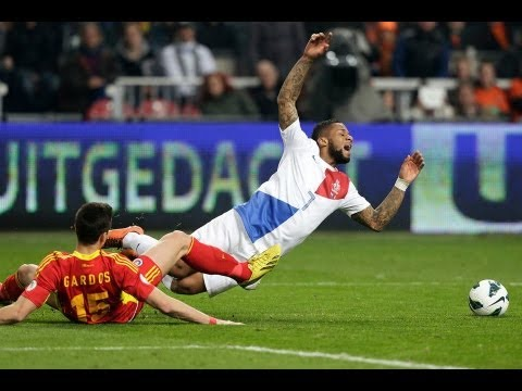 Highlights Jeremain Lens against Romania 26-03-2013