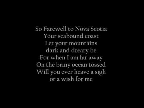 Farewell To Nova Scotia - lyrics