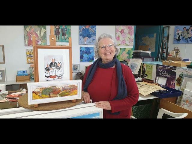 Dans l'atelier de l'artiste peintre Danielle Messager à Pleyben [Mars 2021]