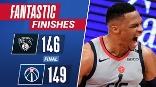 WESTBROOK & BEAL Come Up CLUTCH In Final Seconds To Guide Wizards Over Brooklyn!