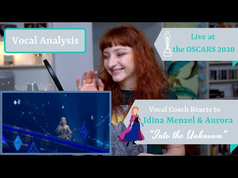 "Vocal Coach Reacts to ""Into the Unknown"" (Frozen; Idina Menzel, AURORA) LIVE Oscars  2020 - Analysis"