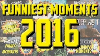 FUNNIEST GAMING MOMENTS OF 2016! | Star Wars Battlefront, Battlefield 1, Fallout 4 and more!