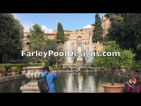 Villa D'Este Water Features in Rome by Mike Farley