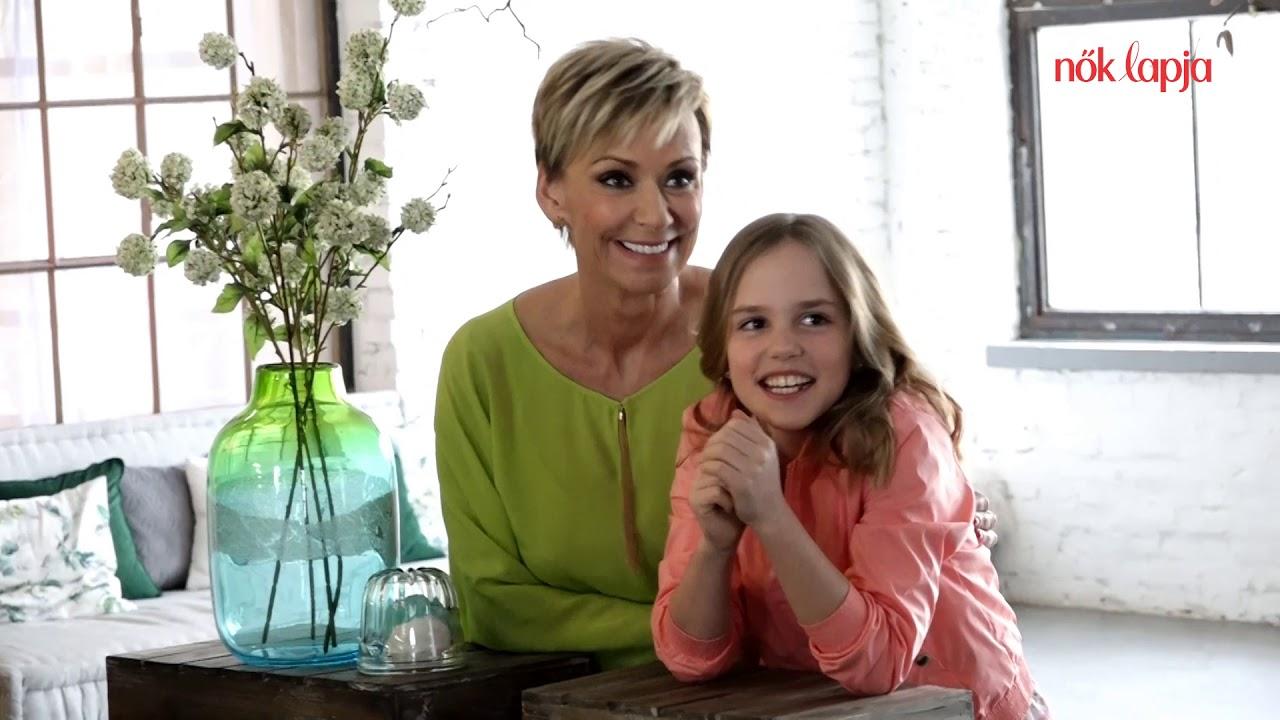 52940b04432 Nők Lapja címlapfotózás - Jakupcsek Gabriella és lánya