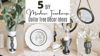 DIY DOLLAR TREE MODERN FARMHOUSE DECOR | BLACK AND WHITE MODERN DECOR