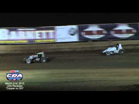 "AMSOIL USAC/CRA Sprint Cars at USA Raceway 3-21-15 ""Copper on Dirt"""