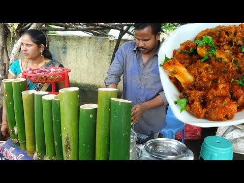 Amazing Village Foods Cooking BAMBOO Chicken HEN Recipe In My Village| Country Chicken Rooster Curry