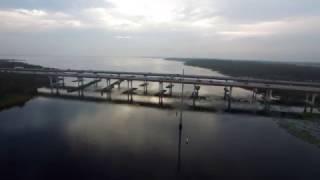 Sanford Florida, Lake Monroe and I4 Bridge Drone Video (DJI Phantom 3 Professional)