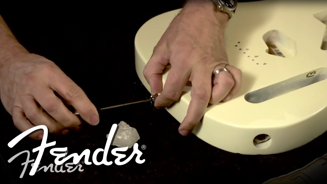 How To Installing Strap Locks Fender Youtube Wiring A Stratocaster