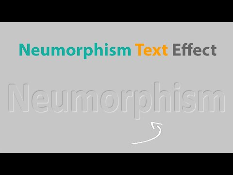Neumorphism Text | UI Design | HTML CSS