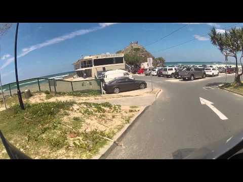 AUSTRALIA GOLD COAST riding my DR650 at Currumbin beach..