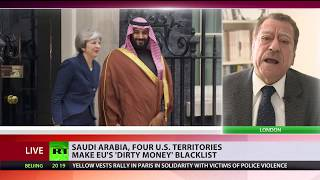 Saudi Arabia and 4 US territories make EU's 'dirty money' blacklist