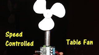 how to make a speed controlled table fan diy