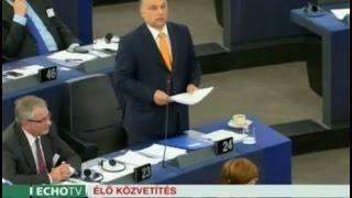 Orbán Viktor felszólalása Strasbourgban (2015-05-19) - Echo Tv