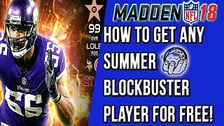 How To Get ANY Madden NFL 18 Summer BlockBuster Player for FREE! Madden 18 Ultimate Team