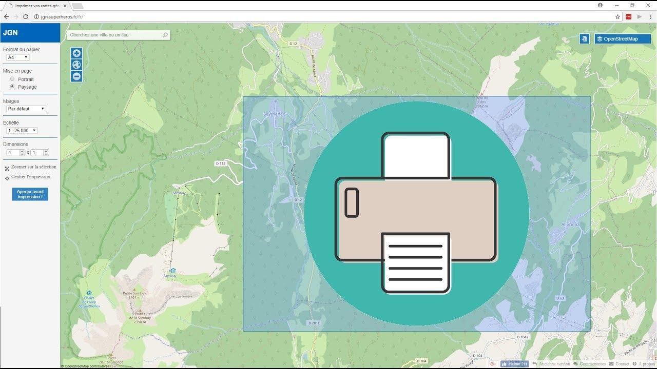 Comment Imprimer Facilement Une Carte Topographique