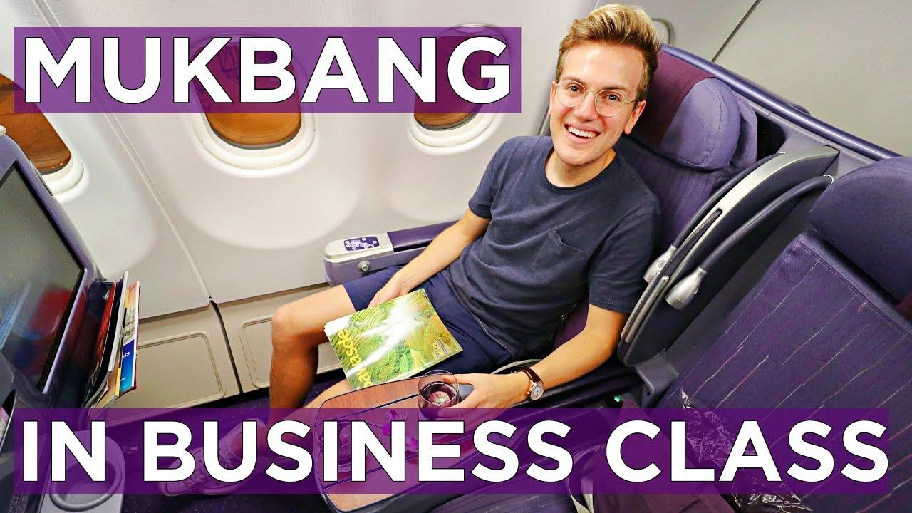 mukbang-in-thai-airways-a330-business-class