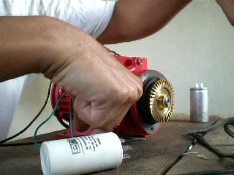 hqdefault induction motor, single phase, no capacitor to start needed youtube single phase capacitor motor wiring diagram at edmiracle.co