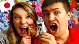 REACTING TO JAPANESE CANDY SWEETS! - FUNNY MOMENTS!