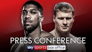 FULL PRESS CONFERENCE! ANTHONY JOSHUA VS ALEXANDER POVETKIN 👊