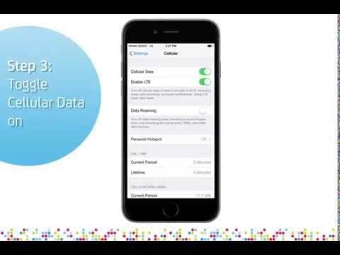 How to turn mobile data off on iphone 6
