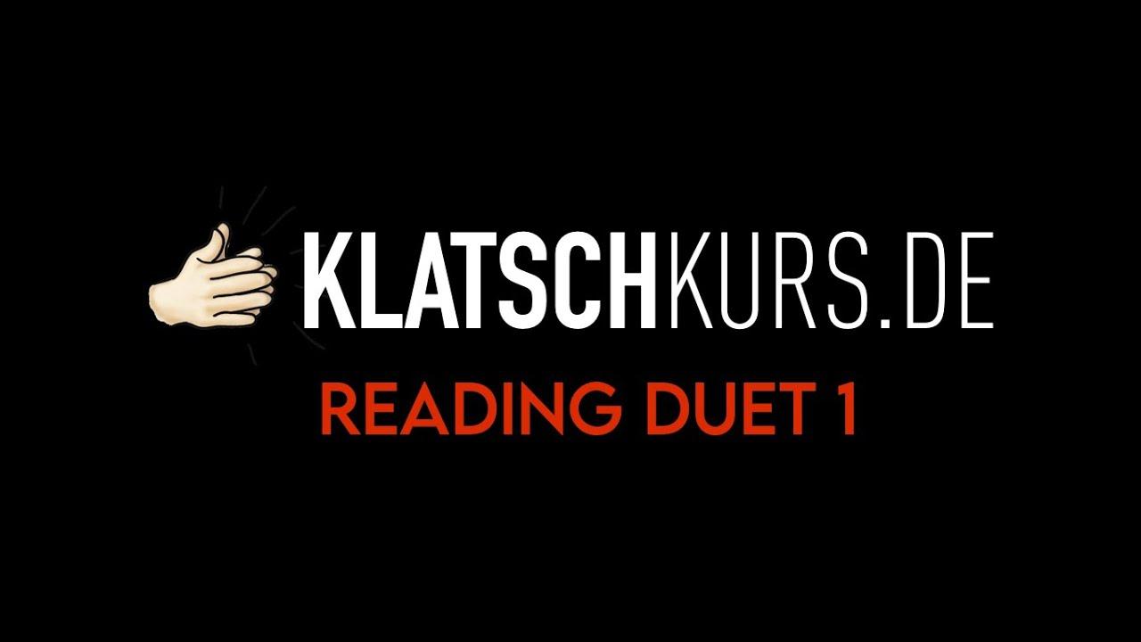 Reading Duet 1, 80bpm - Klatschkurs - Rhythm Reading - by Kristof Hinz