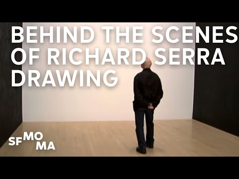 Behind the scenes of Richard Serra Drawing