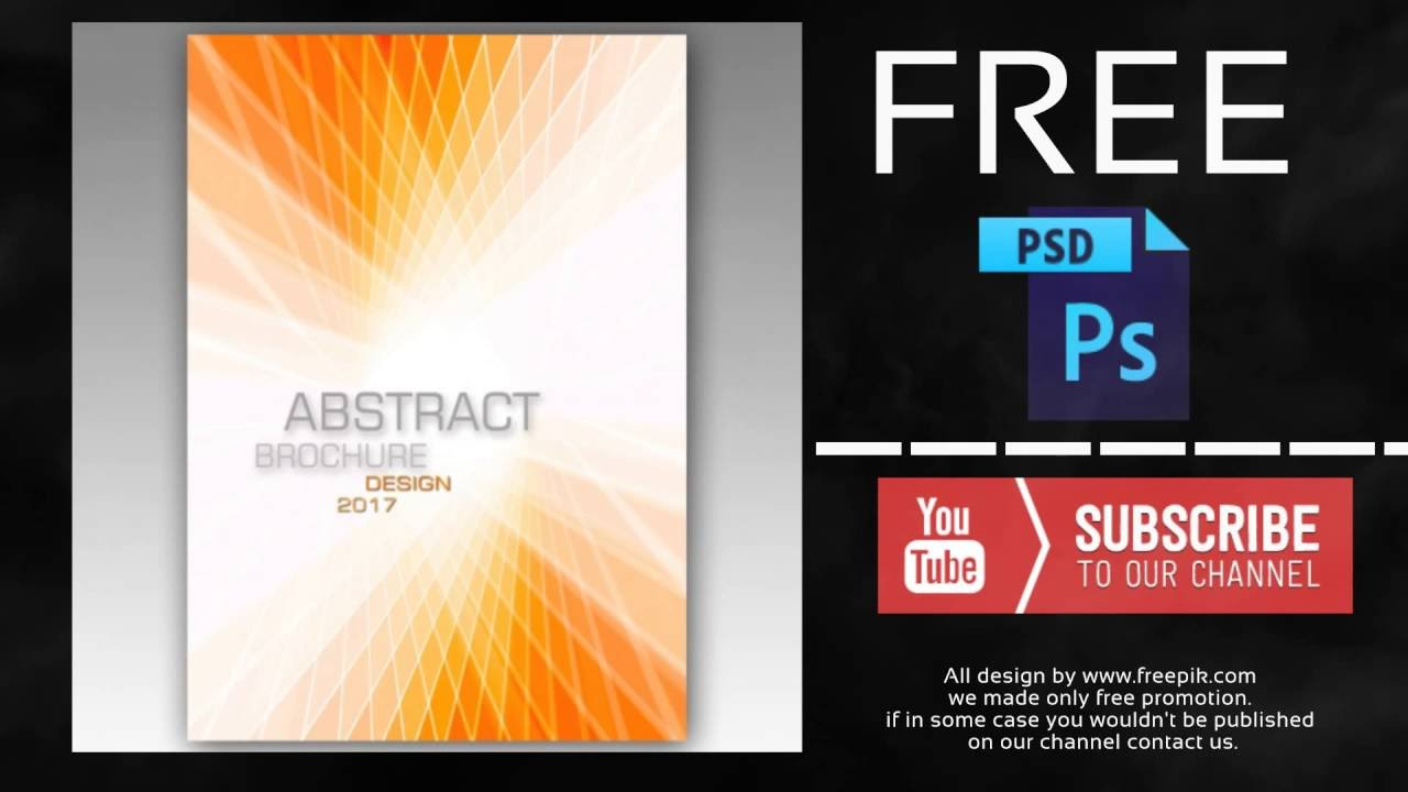 Abstract Brochure Free Photoshop Template Youtube