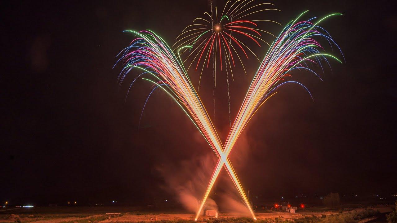 [5K 50p]Cherry Festival Fireworks Show 2021 in Yamagata Japan さくらんぼの祭典 花火の夕べ