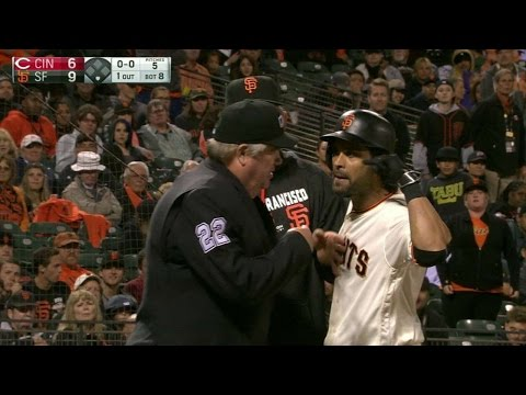 CIN@SF: Pagan ejected for arguing a strike-three call