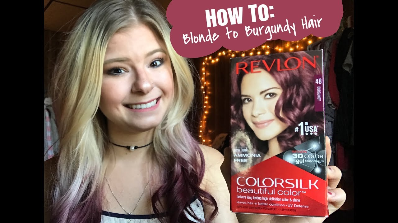 How To Blonde To Burgundy Ombr Hair Always Andrea Youtube