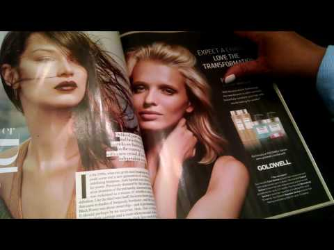 ASMR Magazine flip Vogue and Harper's Bazaar (whispering and gum chewing)