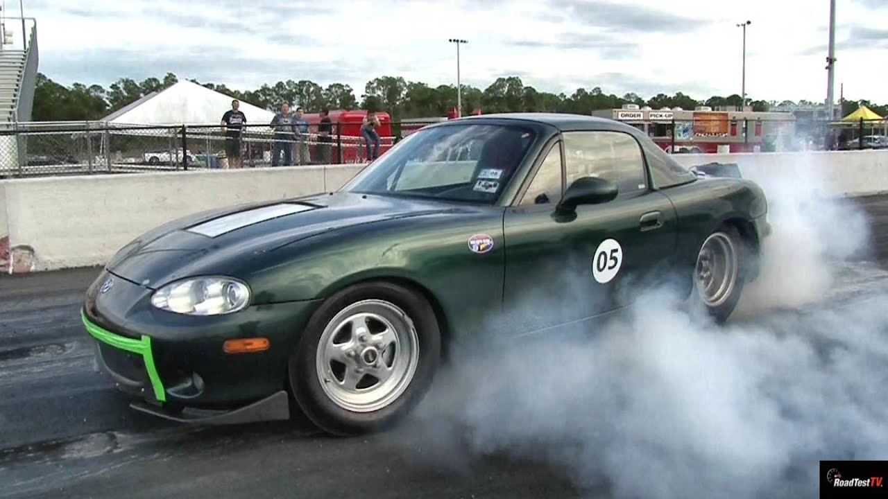 Tesla P85 Gets Zapped By Electric Miata 1 4 Mile Drag