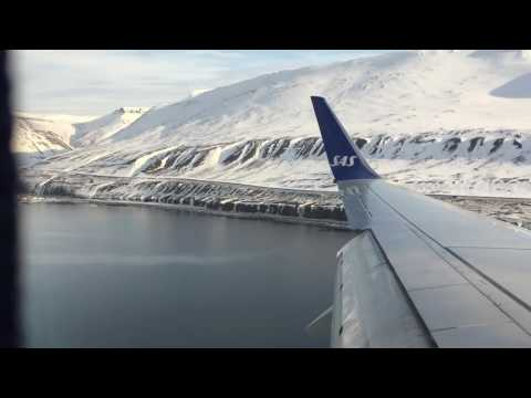 Посадка в аэропорту Лонгйира (Свальбард) / Landing at the airport in Longyearbyen (Svalbard)