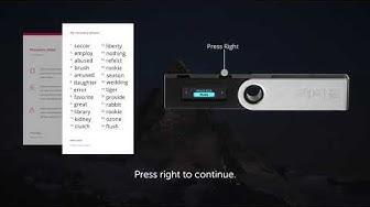 Ledger Nano S — Configure a new device