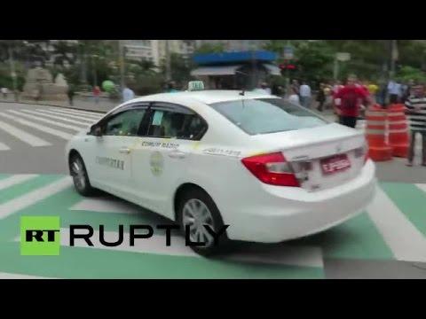 Protestos Anti-Uber em São Paulo após autorização dos serviços de Taxi-app