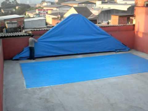 Lan amento a capa f cil doovi for Lona termica piscina