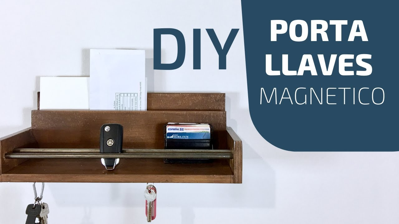 Como hacer un porta llaves diy key holder youtube - Porta llaves pared ...
