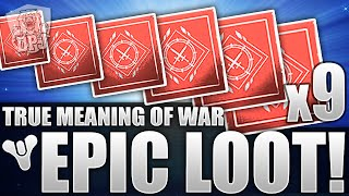 destiny exotic legendary x9 true meaning of war looting results