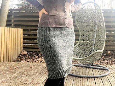 Связать юбку карандаш спицами