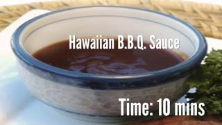 Hawaiian B.B.Q. Sauce Recipe