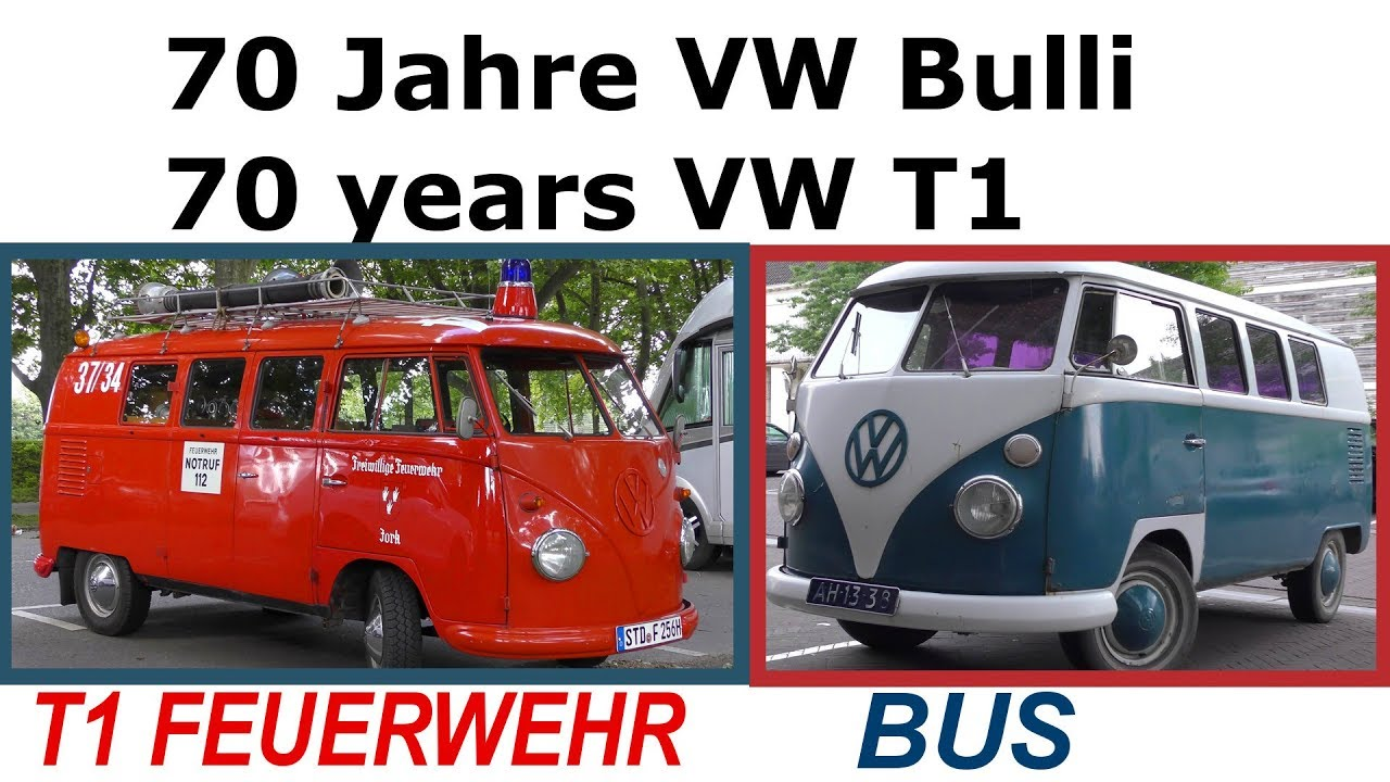 2017 70 jahre vw bulli 70 years volkswagen t1 vw bulli feuerwehr bus fire truck youtube. Black Bedroom Furniture Sets. Home Design Ideas