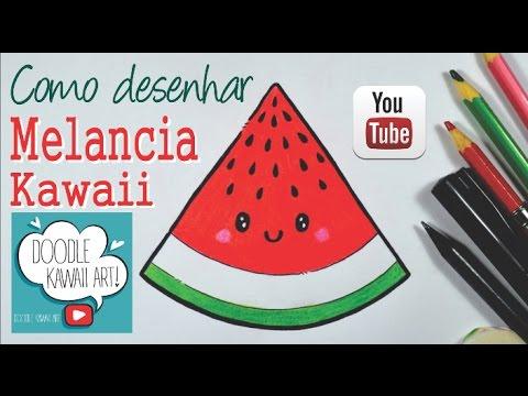 Como Desenhar Melancia Kawaii Passo A Passo Youtube