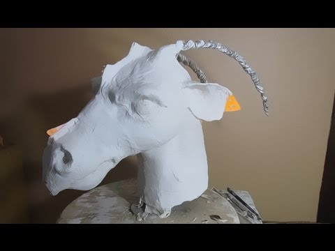 New Paper Mache Dragon- Head and Scales | Paper mache animals ... | 360x480
