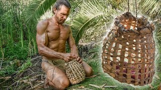 Primitive Cattail Survival Basket