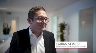 Fabian Seimer, Head of Information Management at inacta AG