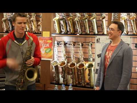 Derek Brown clinic in Bird sax boutique. 09.03.2017